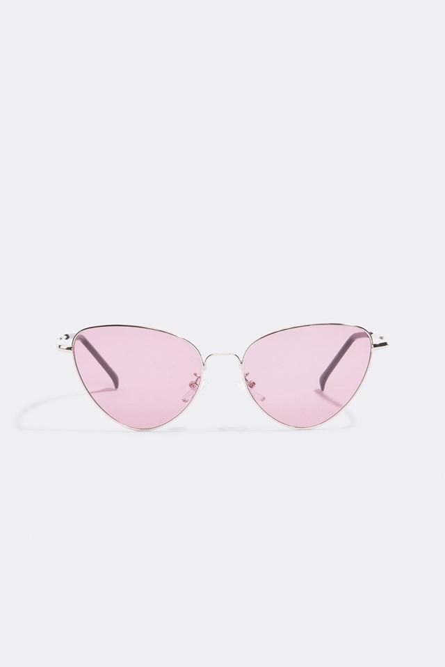 Metal Frame Cat Eye Sunglasses Pink | na-kd.com