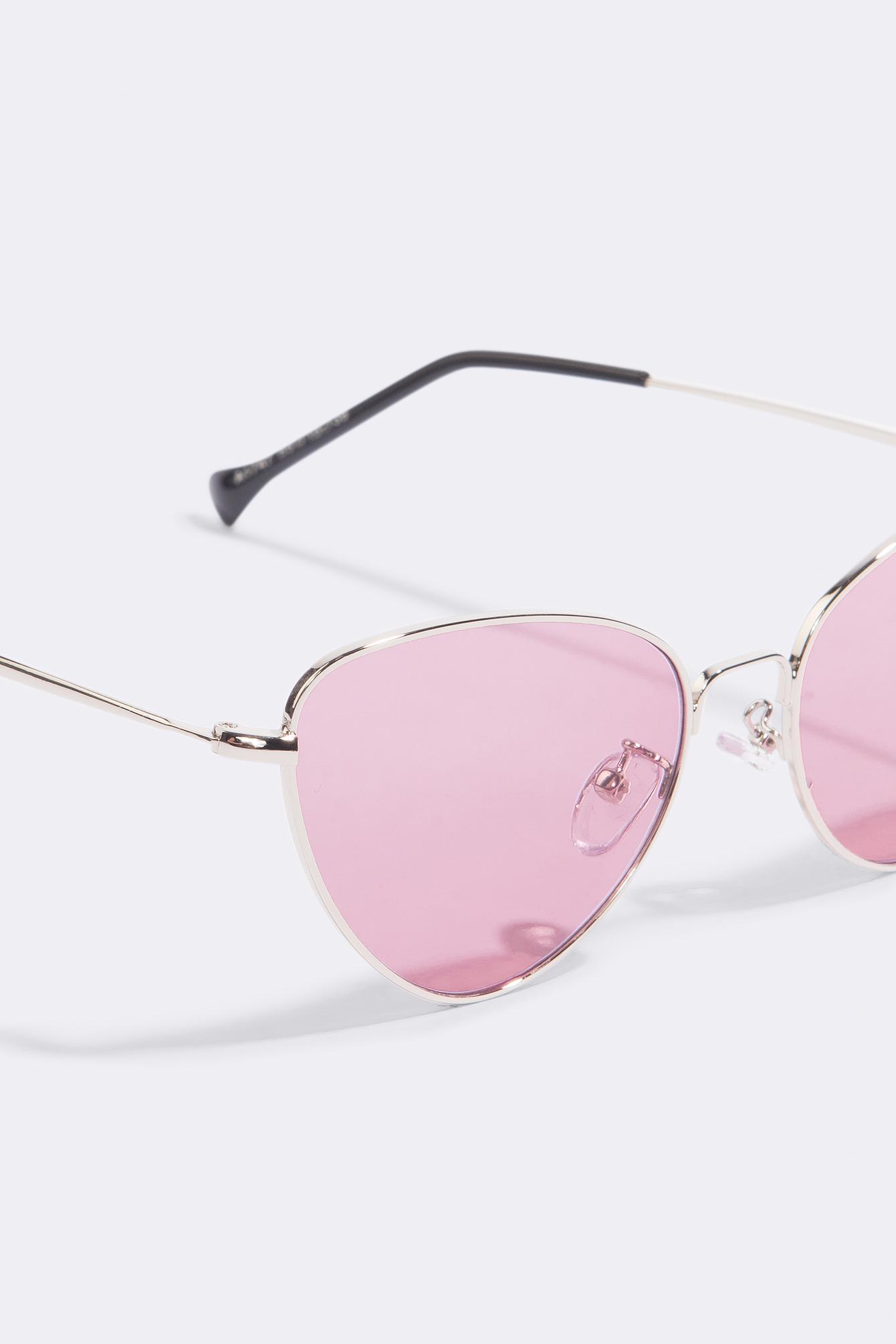 NA-KD Accessories Metal Frame Cat Eye Sunglasses - Pink rLijP