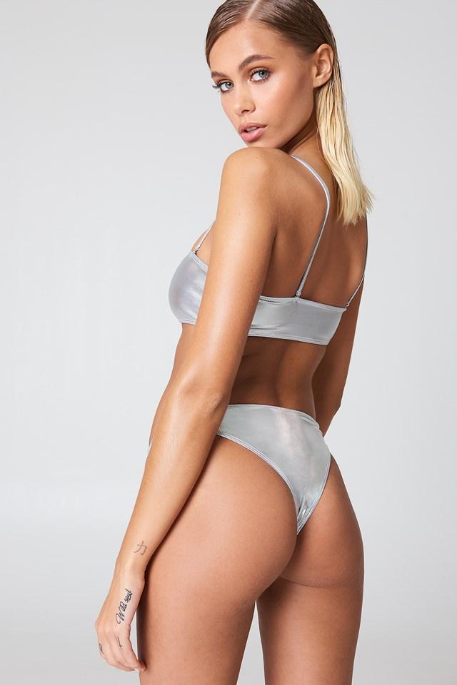 Metallic Bikini Panty Silver