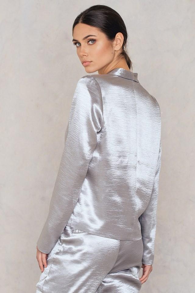 Metallic Blazer Silver
