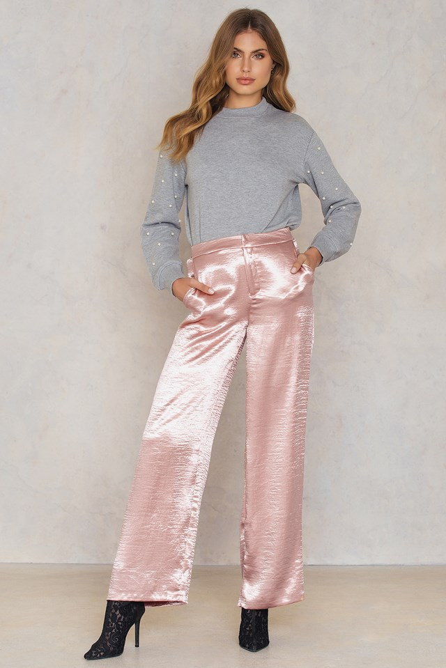Metallic Flared Pants NA-KD.COM