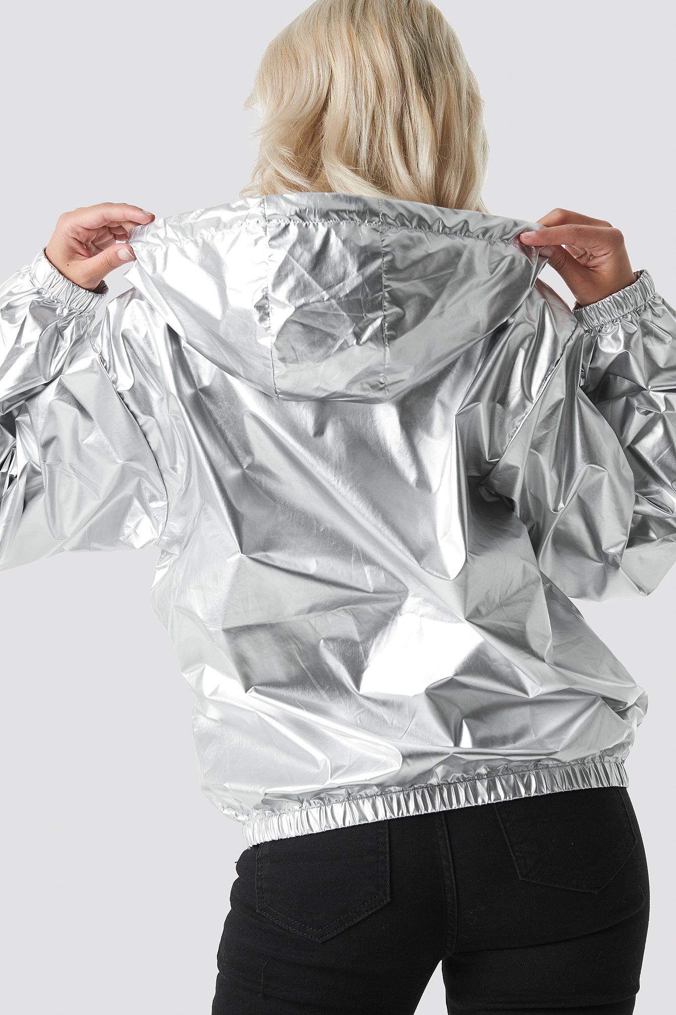 Metallic Half Zip Pullover Jacket NA-KD.COM