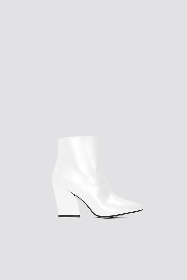 Metallic Mid Heel Boots NA-KD.COM