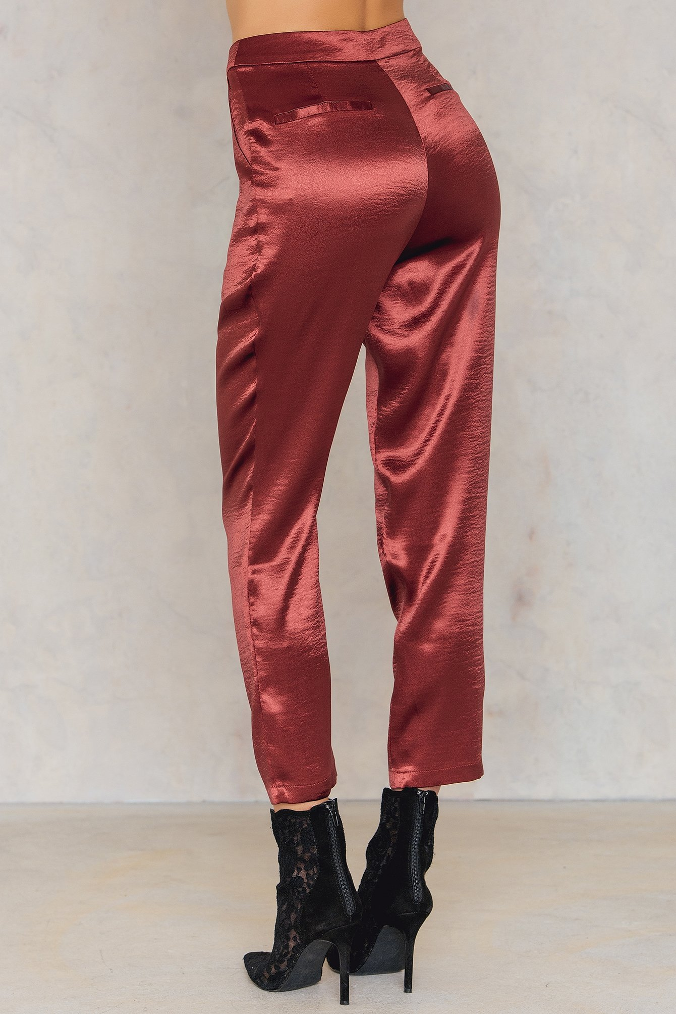 Metallic Straight Pants NA-KD.COM