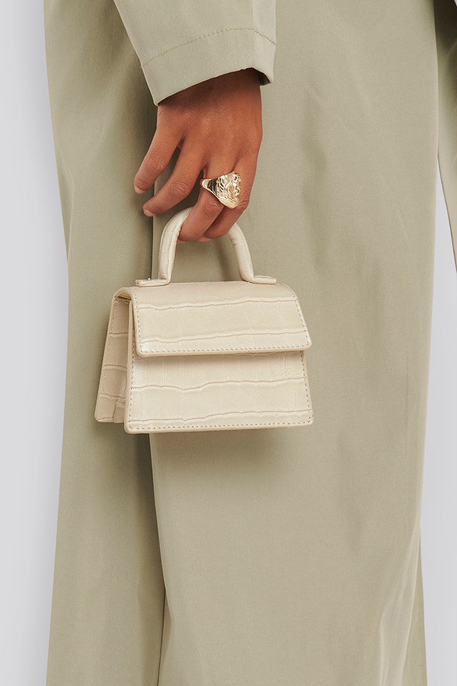 Micro Top Handle Bag Offwhite