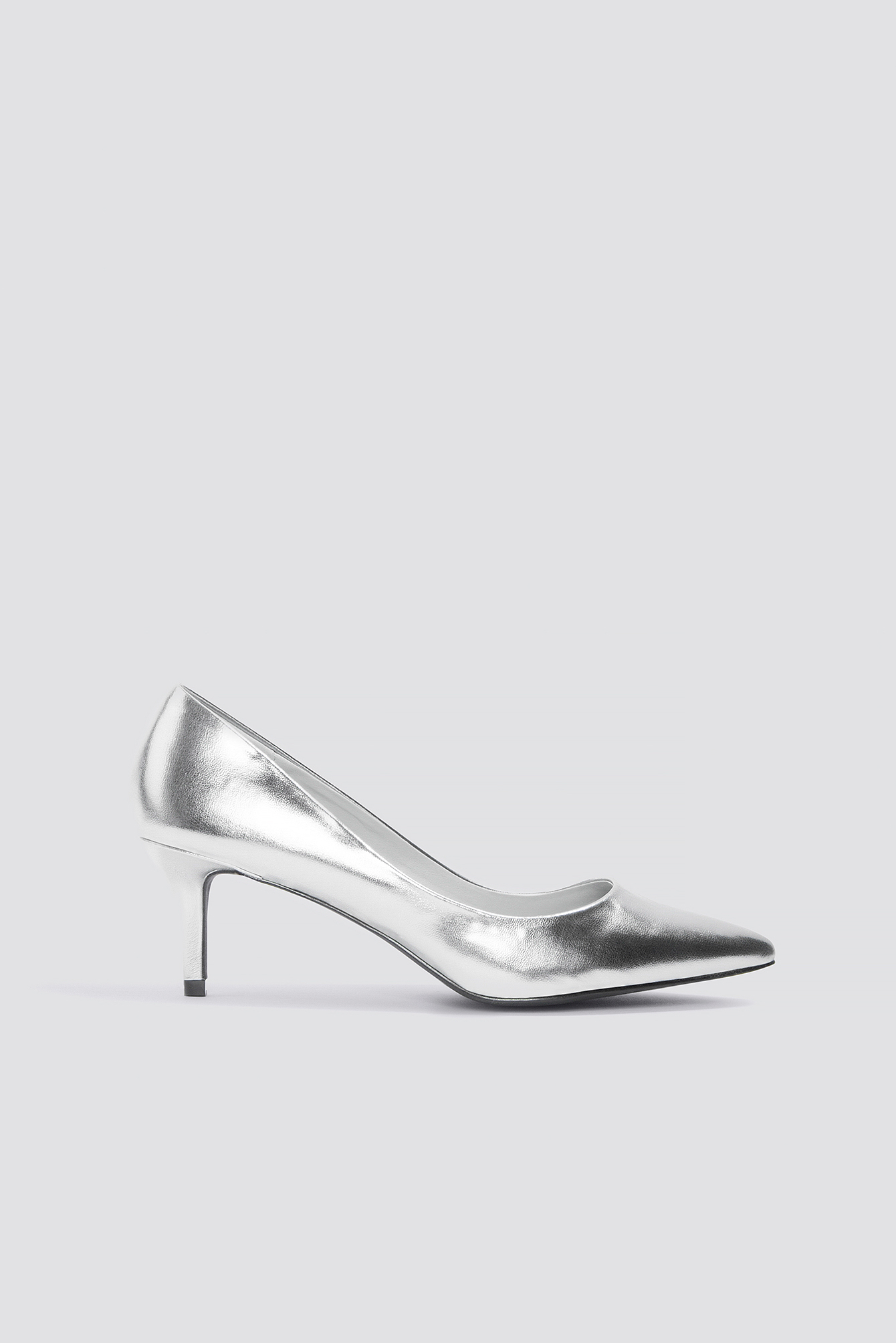 Metallic Mid Heel Pumps NA-KD.COM