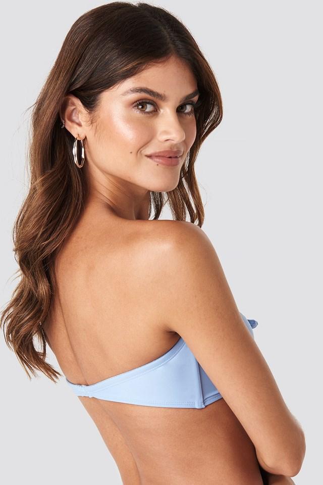Mid Knot Bikini Top Blue