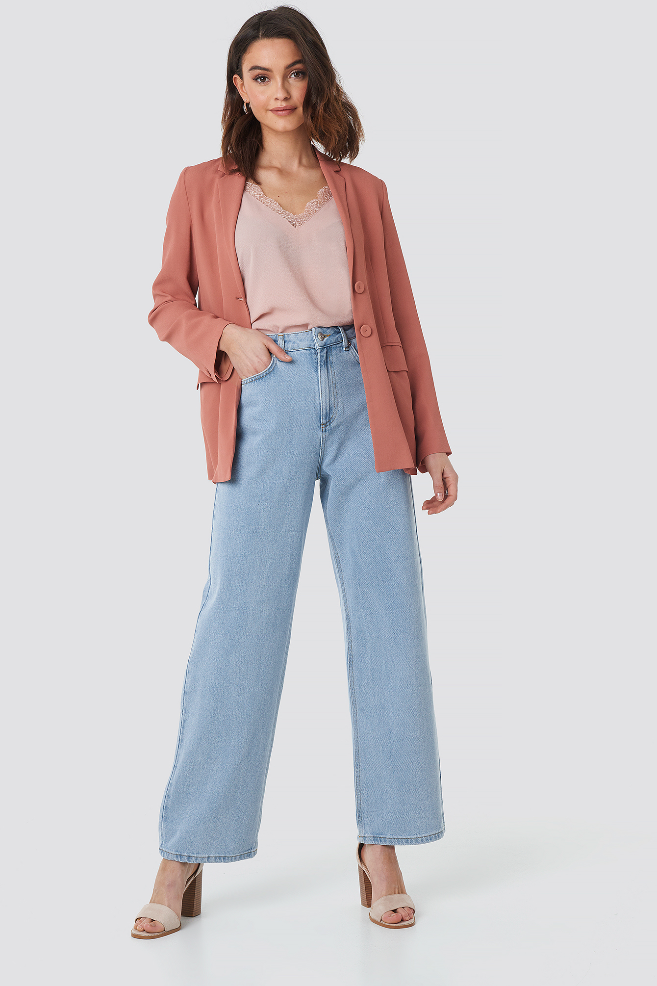 Mid Rise Relaxed Jeans NA-KD.COM