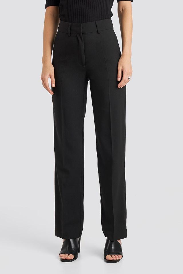 Mid Rise Suit Pants Black