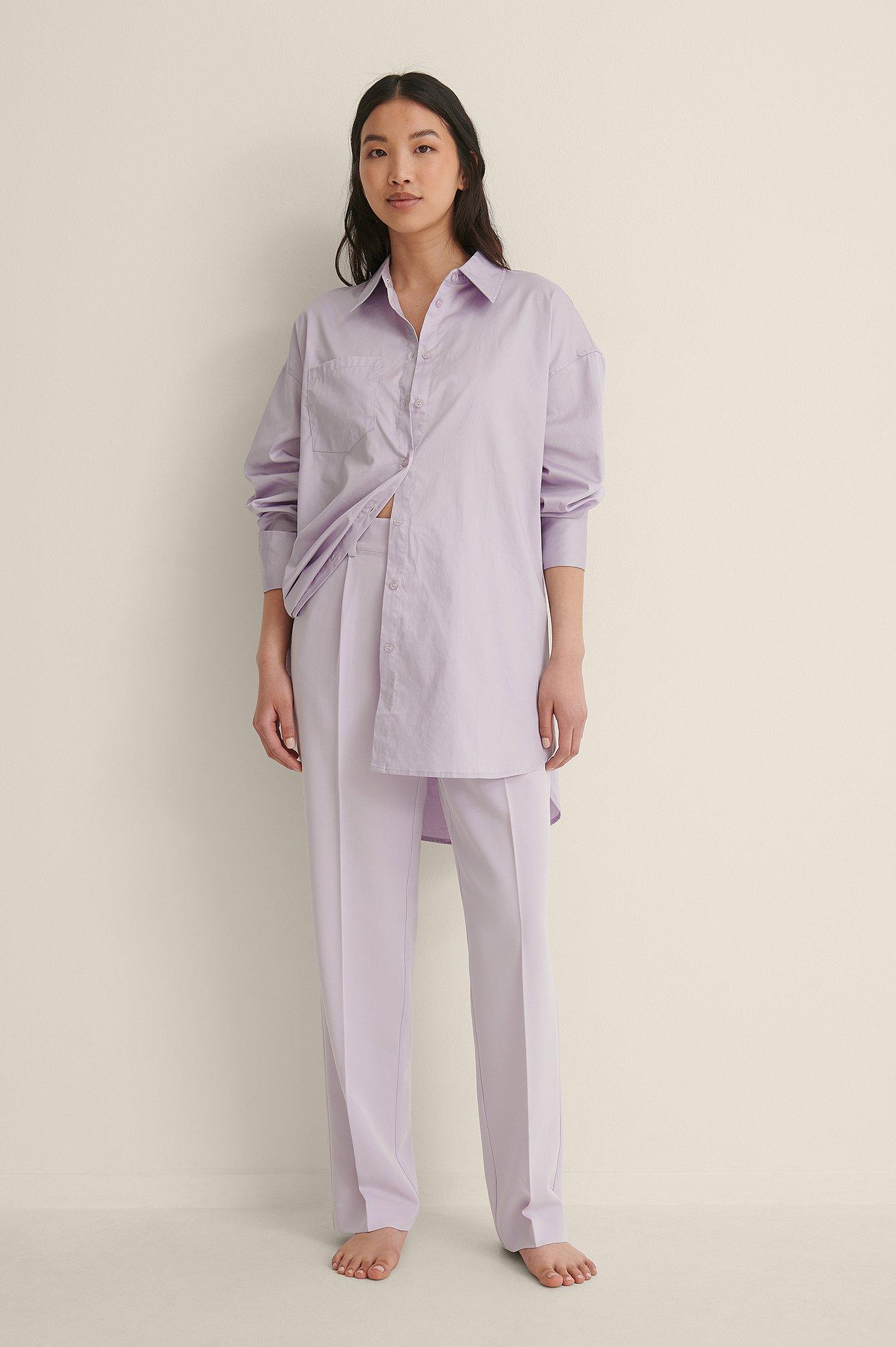 NA-KD Reborn Kostymbyxor Med Medelhög Midja - Purple