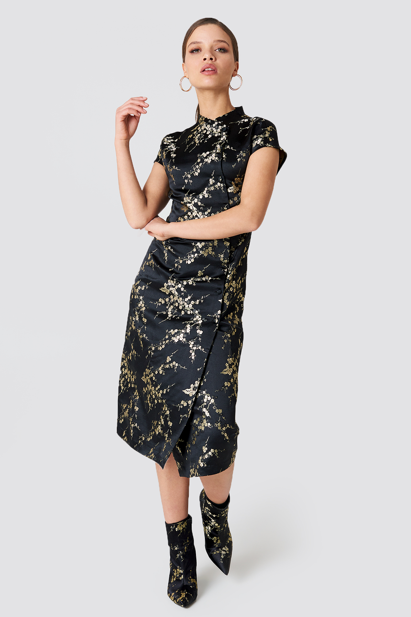 Midi Cheongsam Dress NA-KD.COM