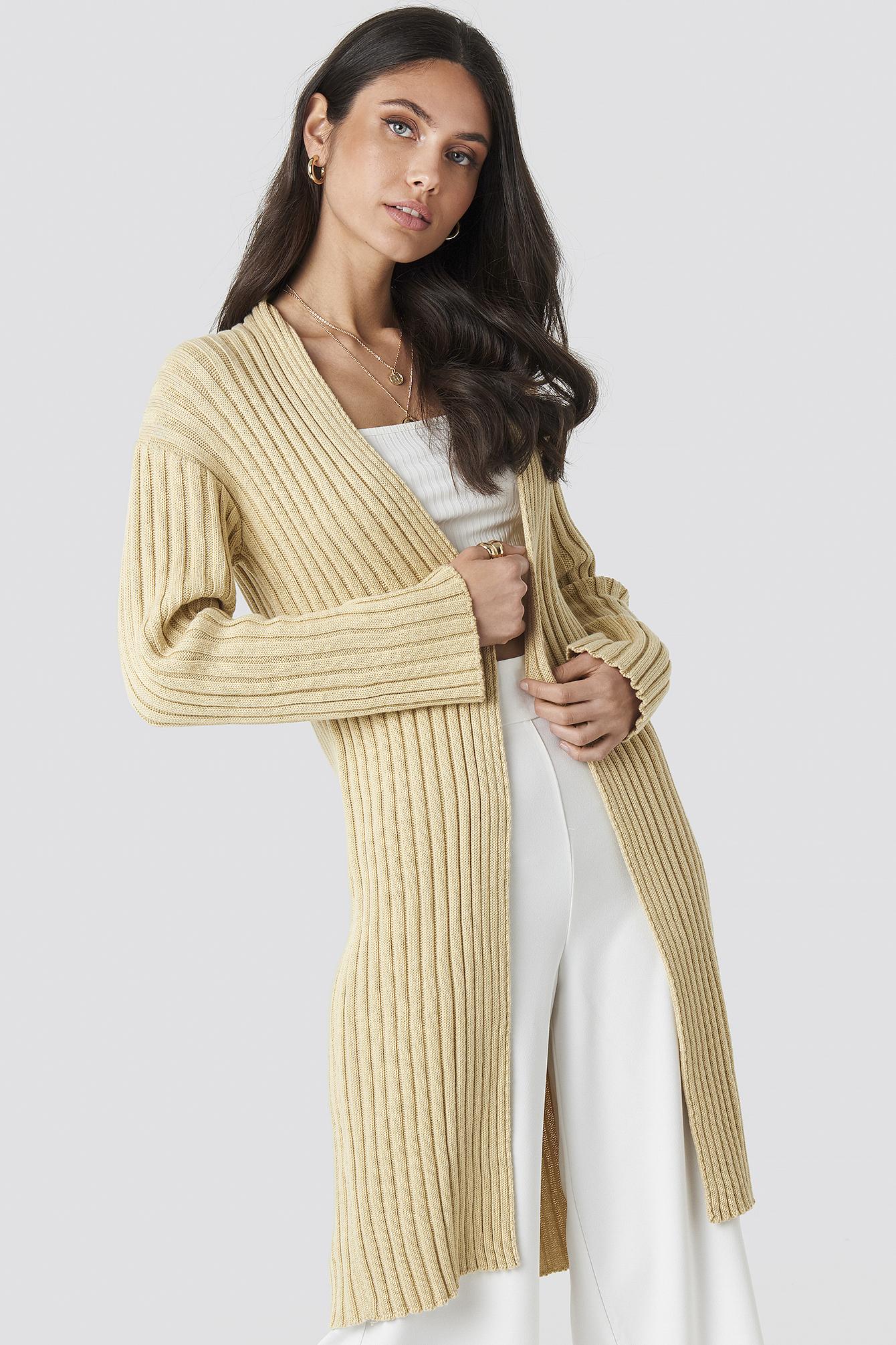 Midi Knitted Cardigan NA-KD.COM