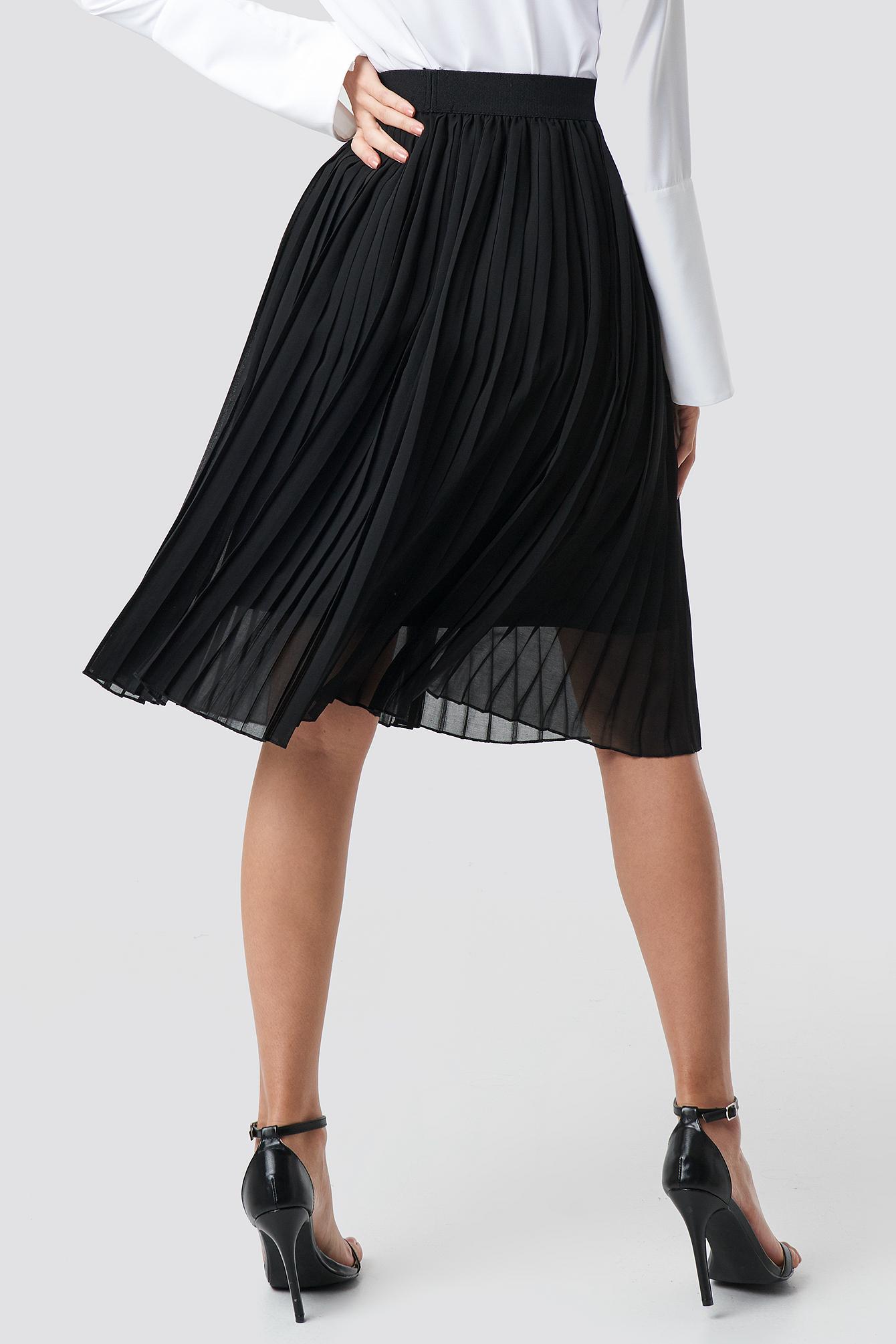 Midi Pleated Skirt NA-KD.COM
