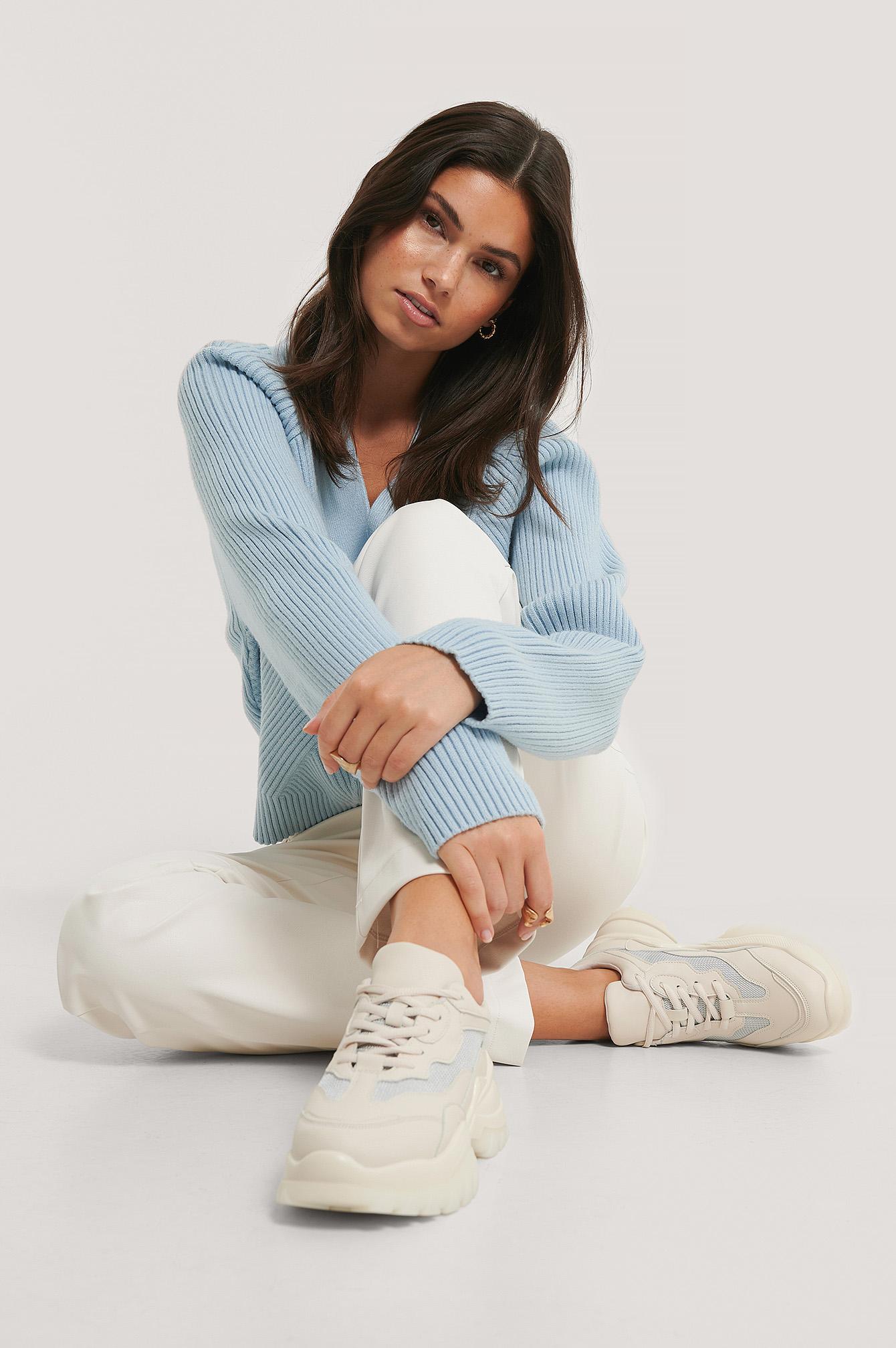 na-kd shoes -  Sneakers Mit Milchkautschuksohle - Beige