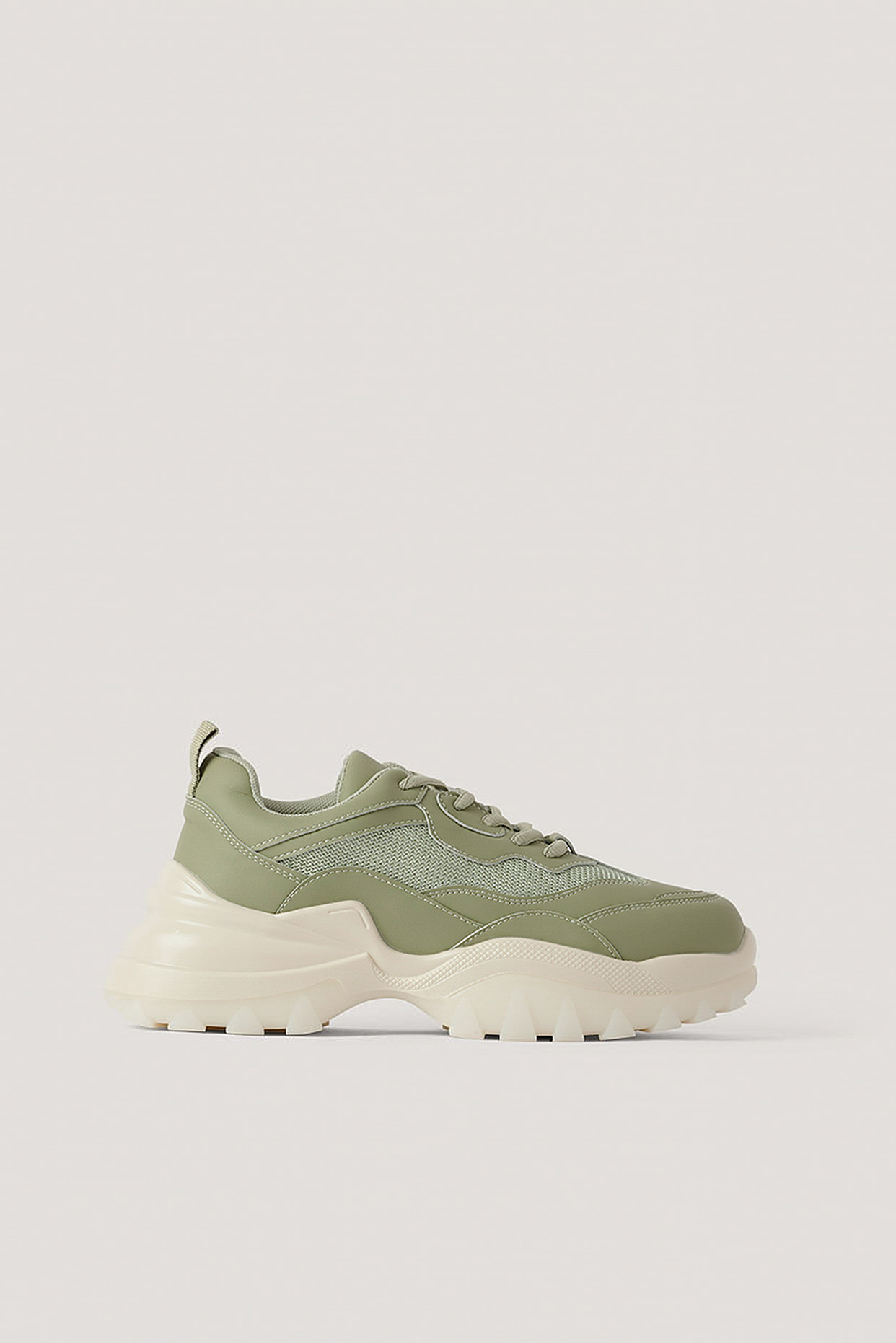 na-kd shoes -  Sneakers Mit Milchkautschuksohle - Green