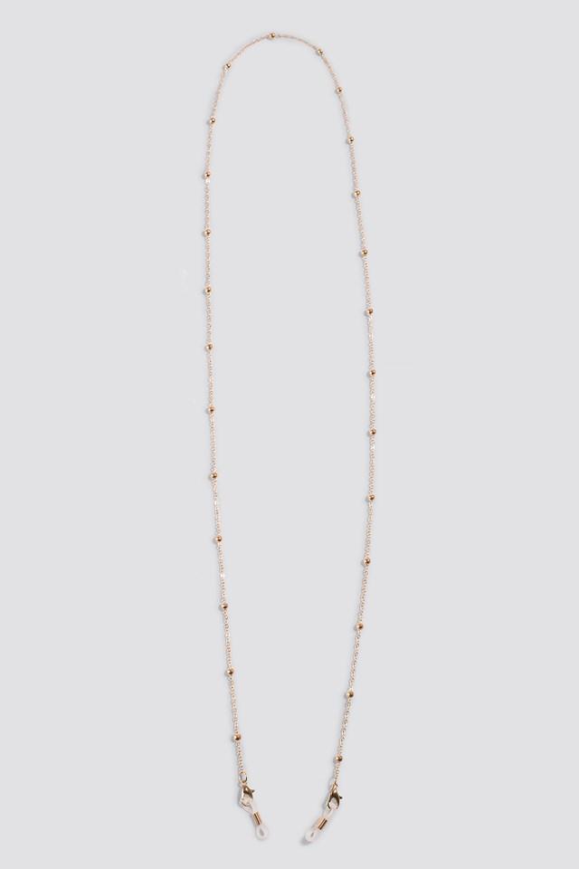 Mini Globe Sunglass Chain Gold