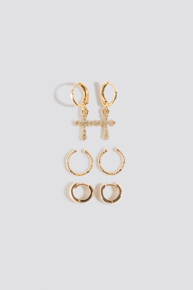 Mini Cross Earring Set NA-KD Accessories