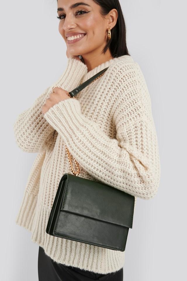 Mini Chain Detail Flap Bag Dusty Green