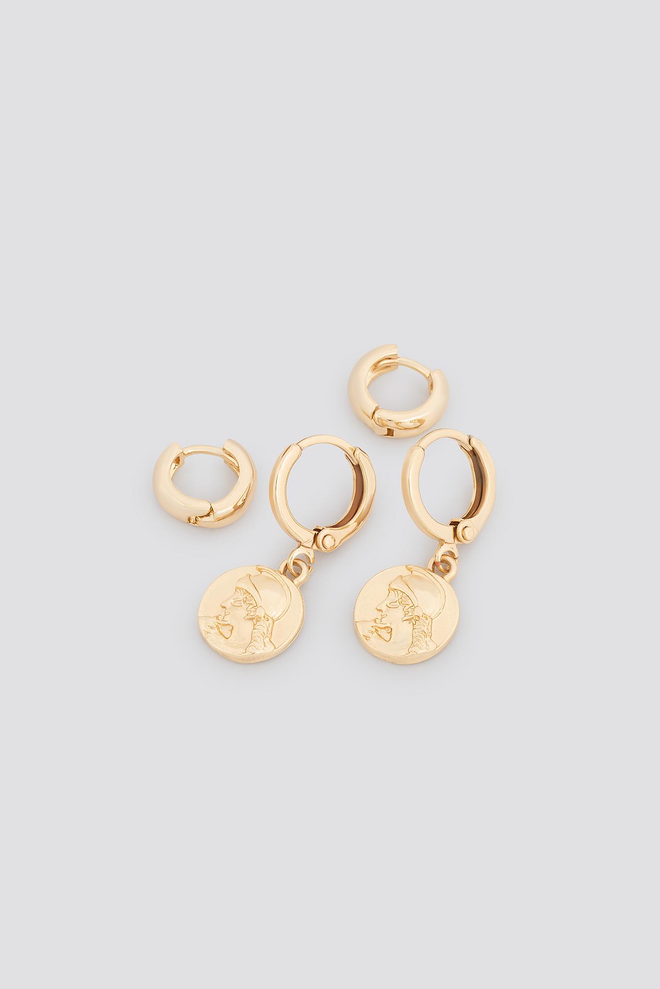 Mini Coin Earring Set NA-KD.COM