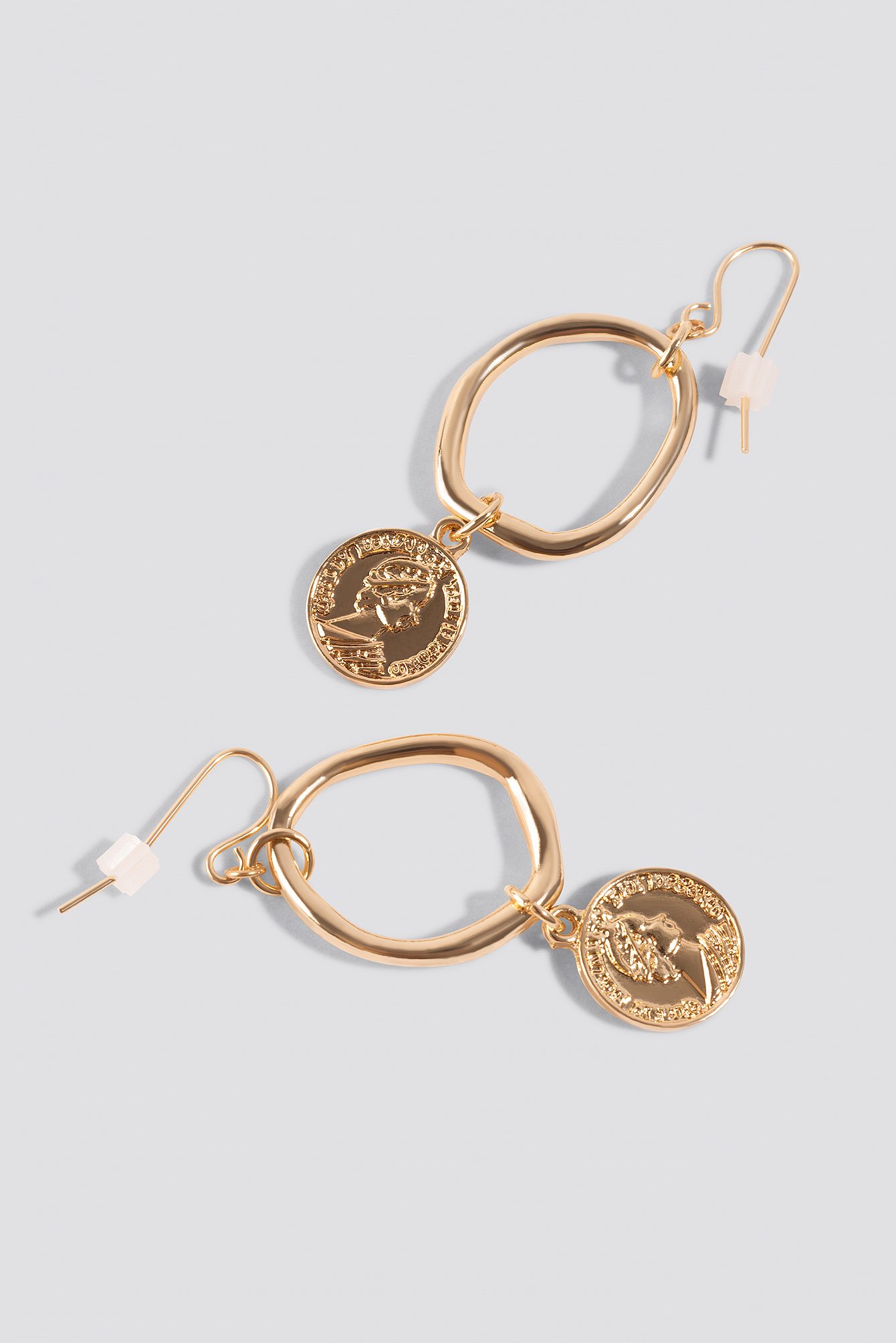 Mini Coin Hoop Earrings NA-KD.COM