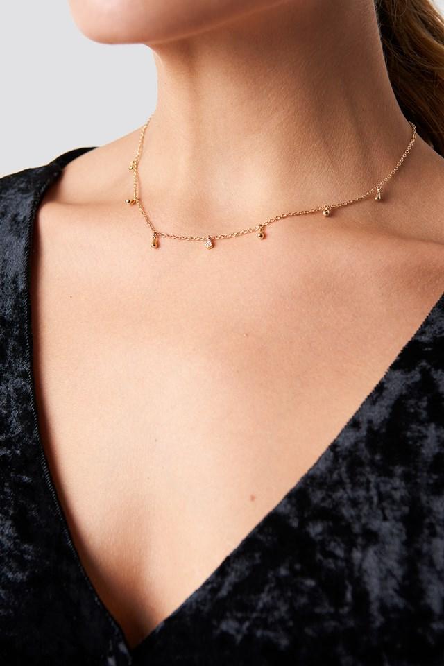 Mini Drop Necklace Gold
