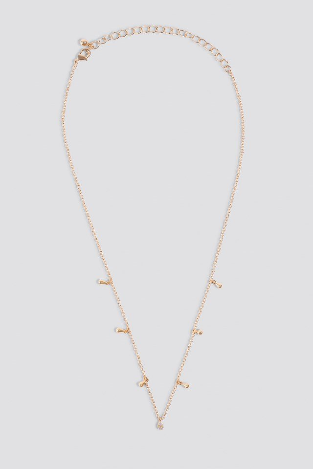 Mini Drop Necklace Gold