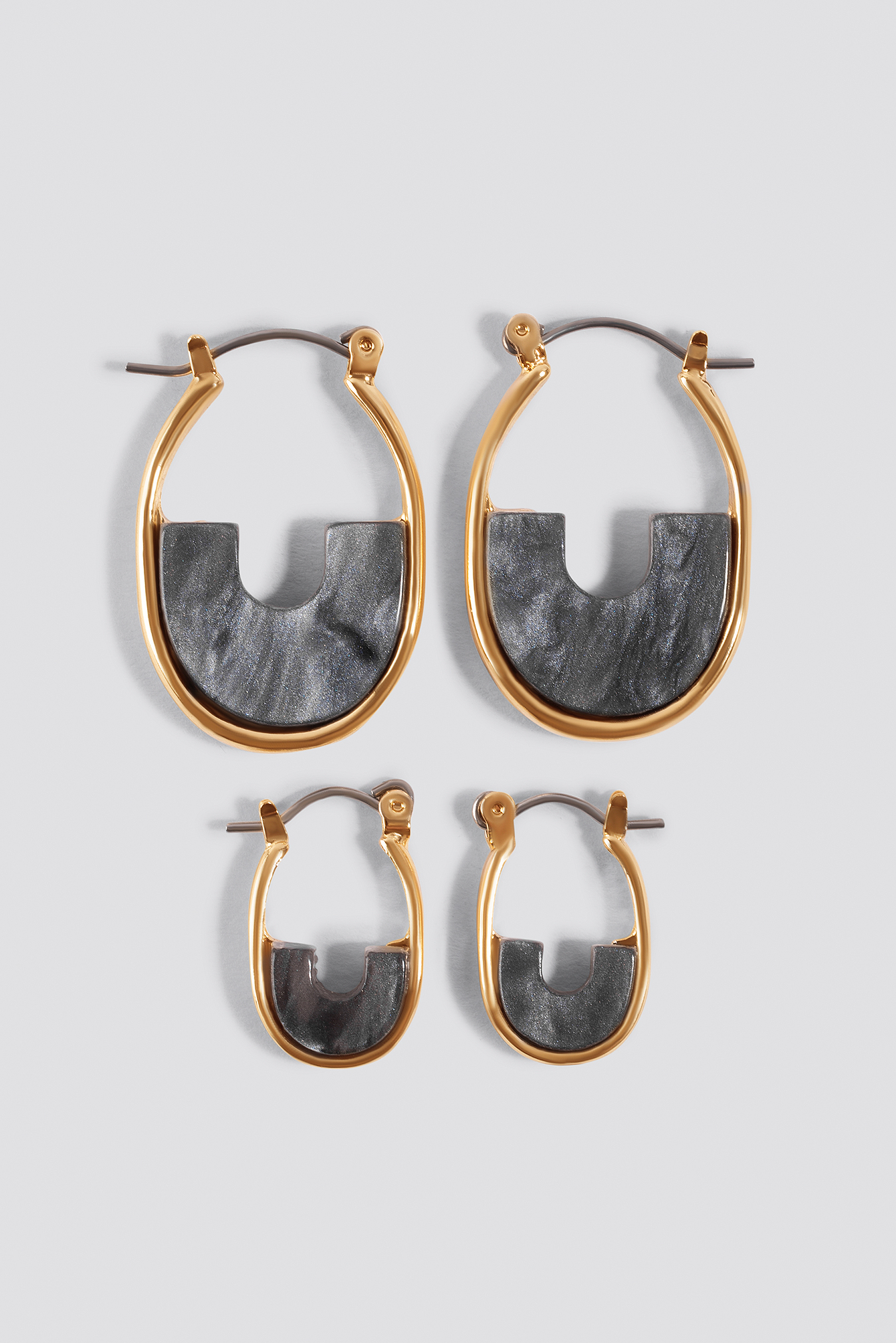 Mini Filled Hoop Earrings (Multi Pack) NA-KD.COM