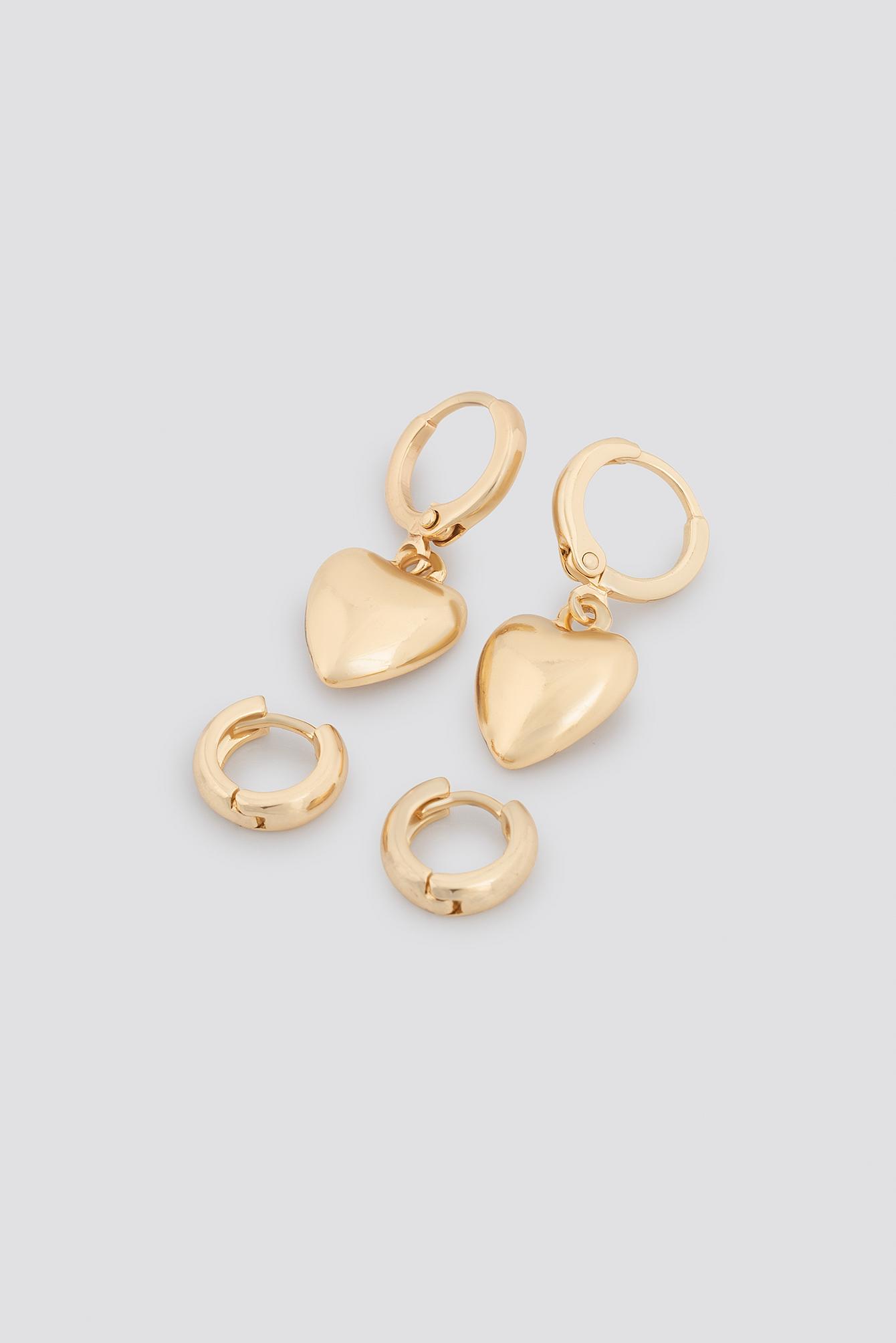 Mini Heart Earring Set NA-KD.COM