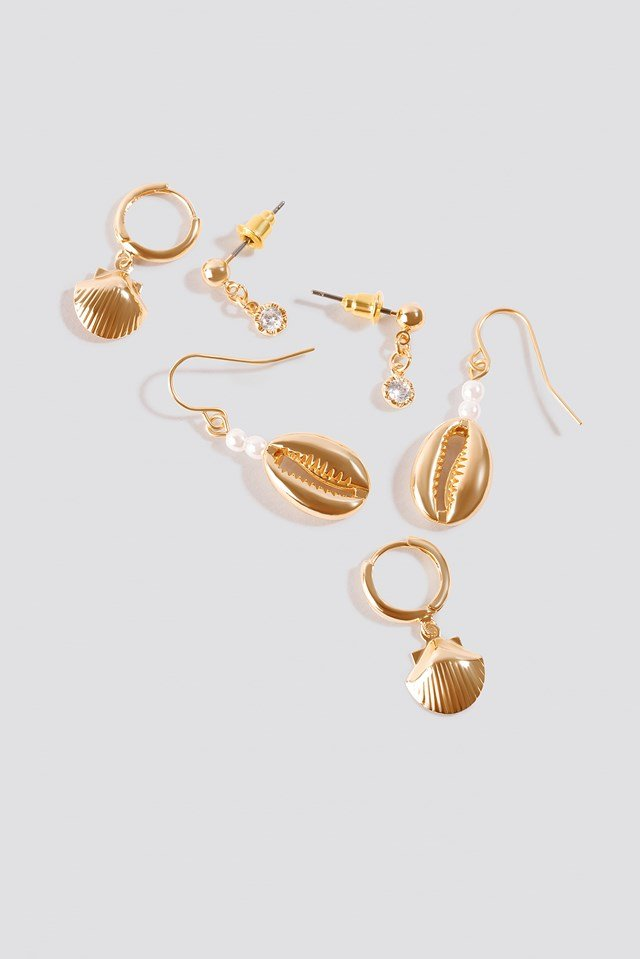 Mini Multi Pendant Earrings (3-pack) Gold