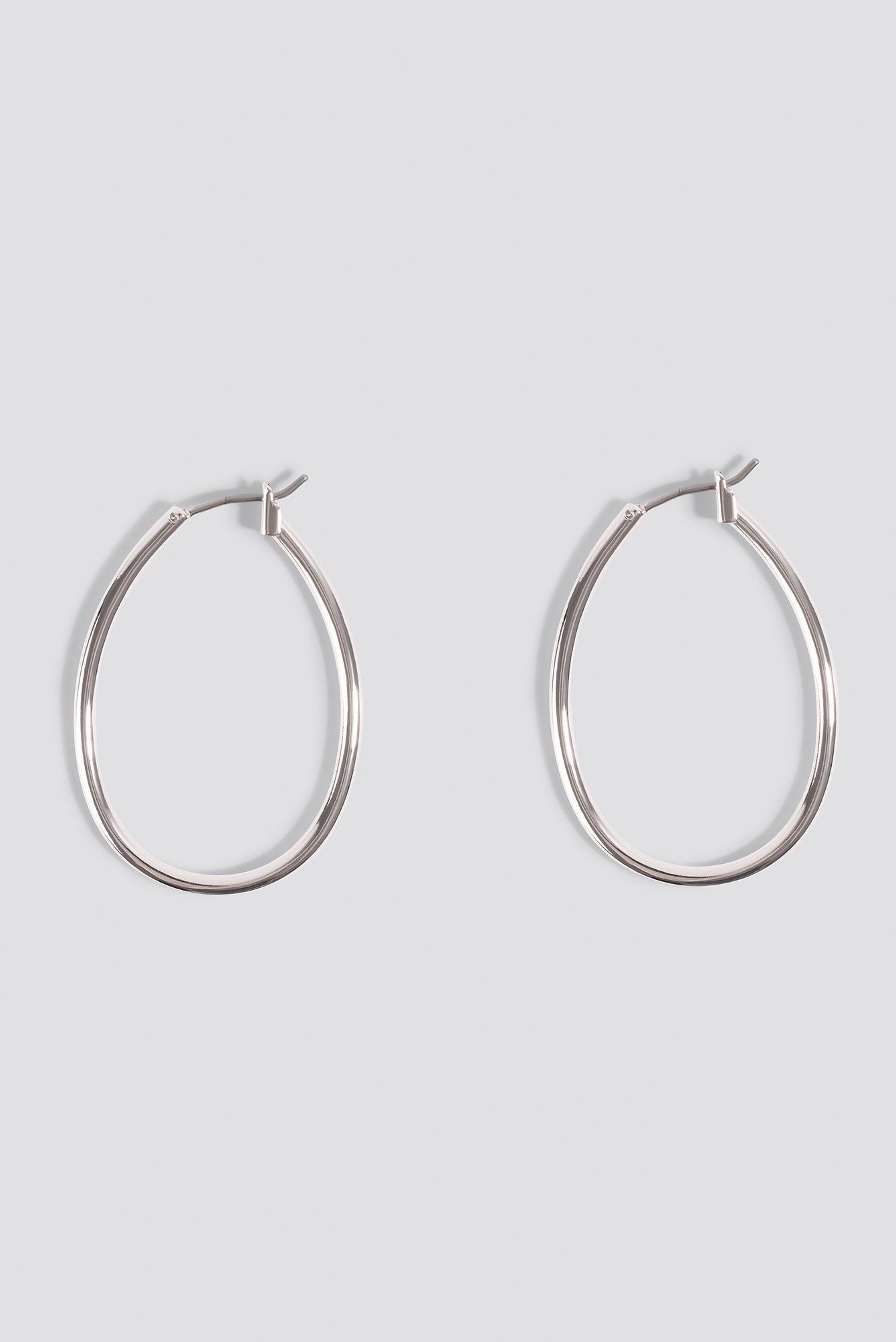 Silver Mini Oval Hoop Earrings