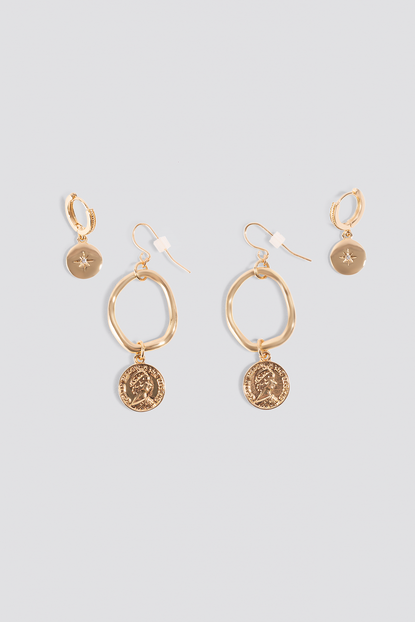 Mini Pendant Coin Earrings (2-pack) NA-KD.COM