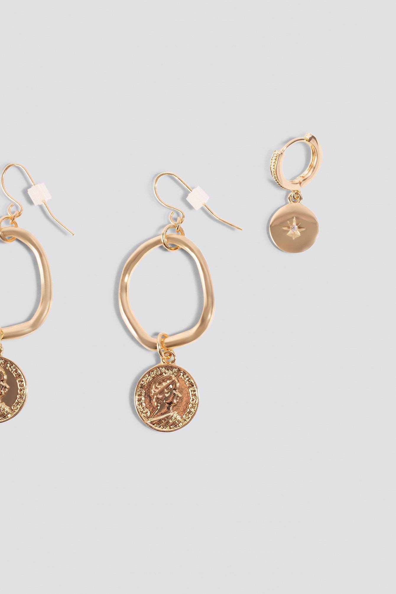 Mini Pendant Coin Earrings (2-pack) NA-KD.COM