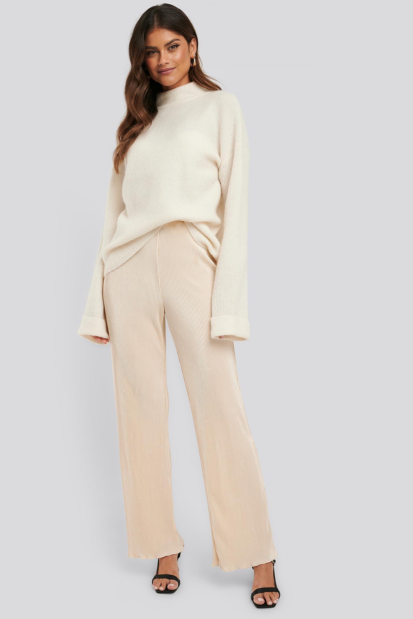 na-kd trend -  Mini Pleated Babylock Pants - Yellow