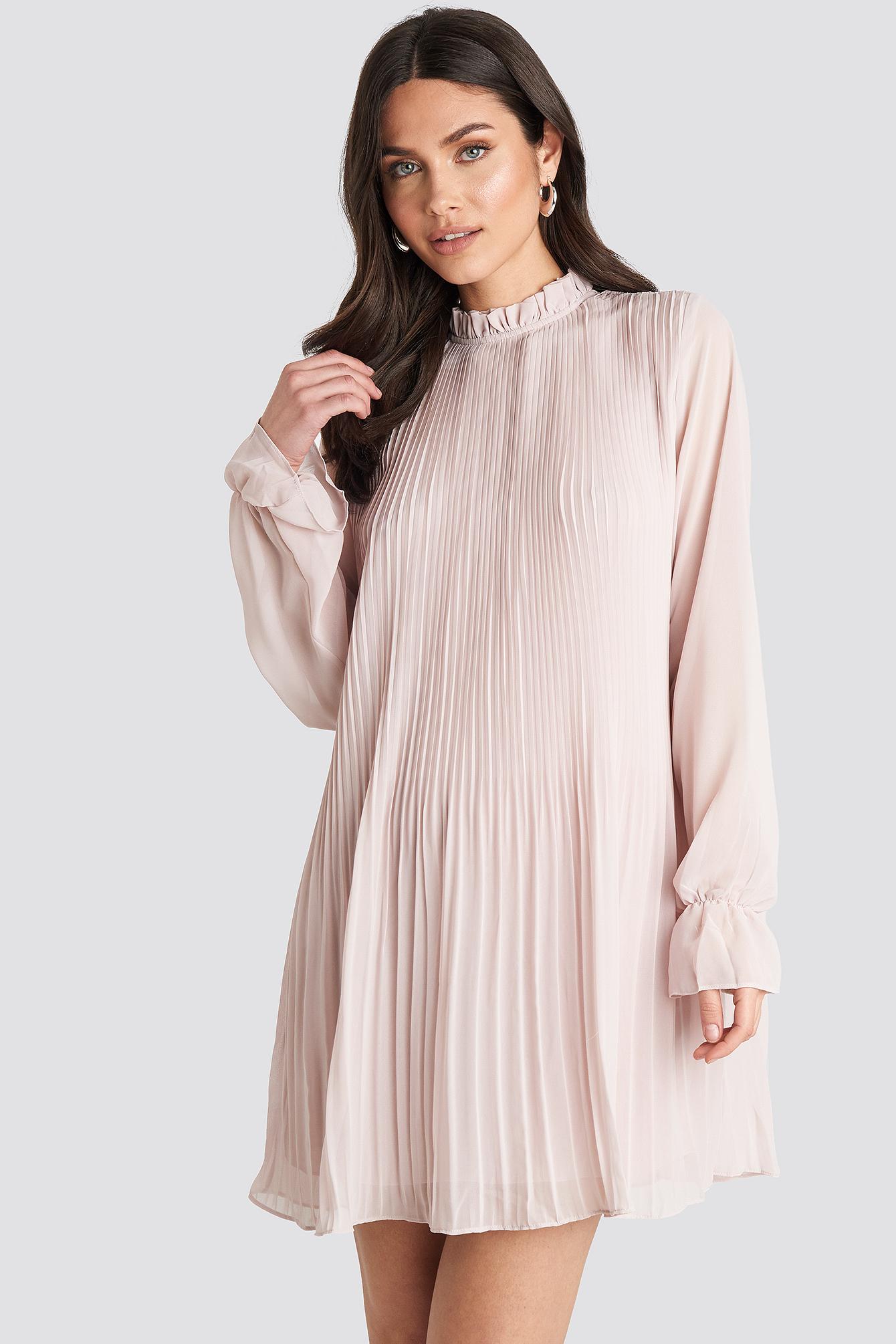 Mini Pleated Dress Violet by Na Kd