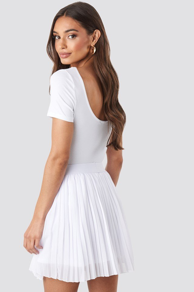 Mini Pleated Skirt White