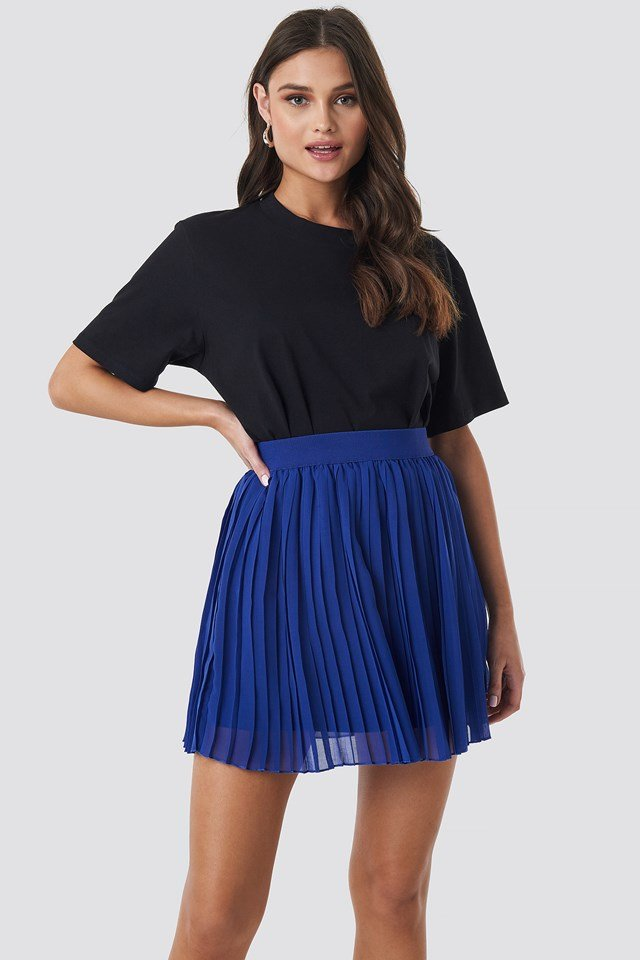 Mini Pleated Skirt Blue