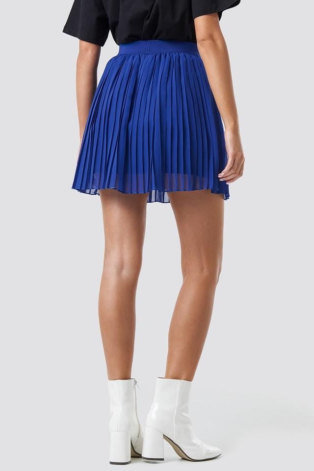 Mini Pleated Skirt Blue
