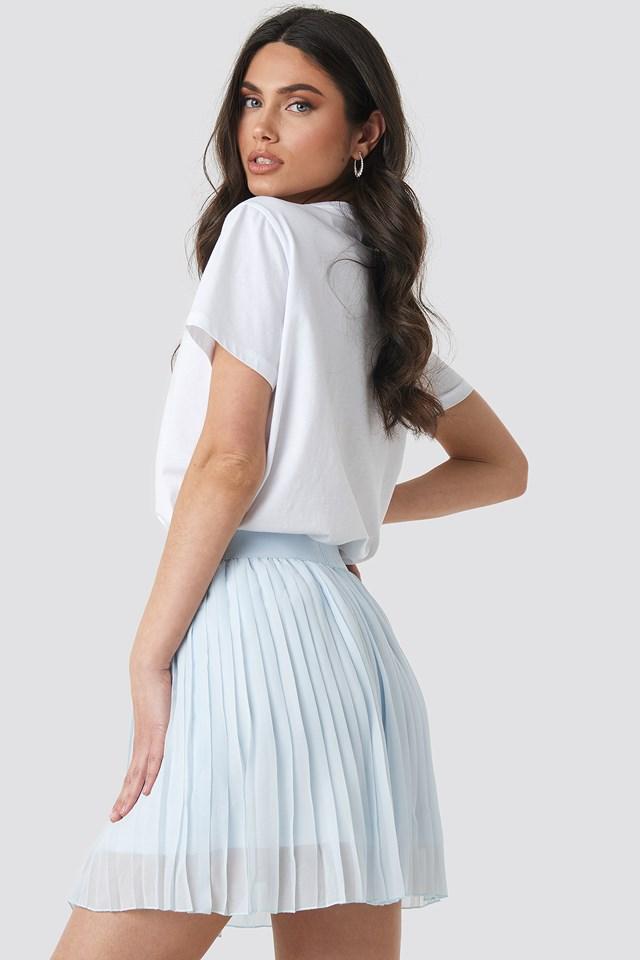 Mini Pleated Skirt Pale Blue