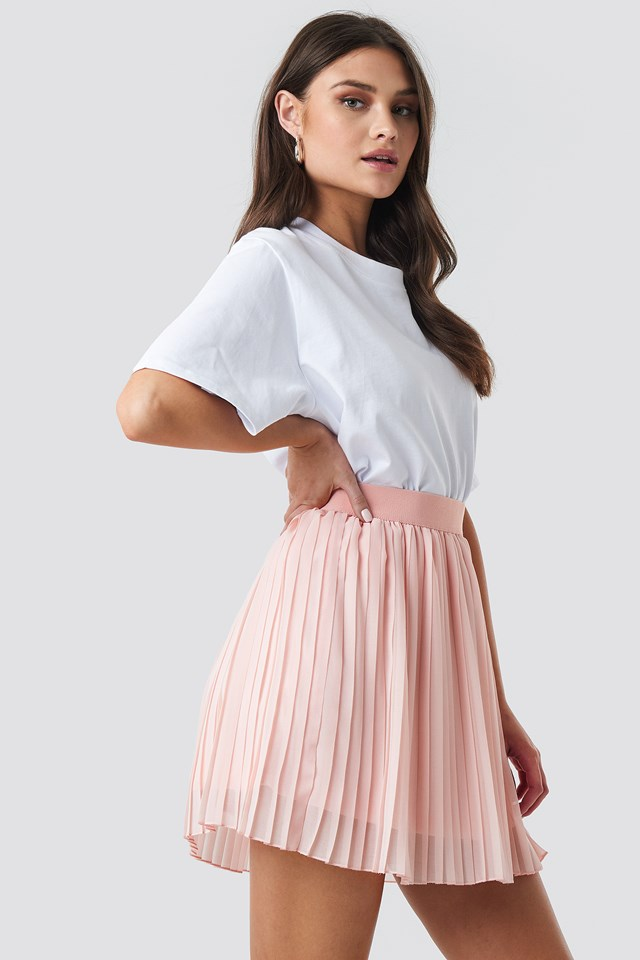 Mini Pleated Skirt Rose Quartz