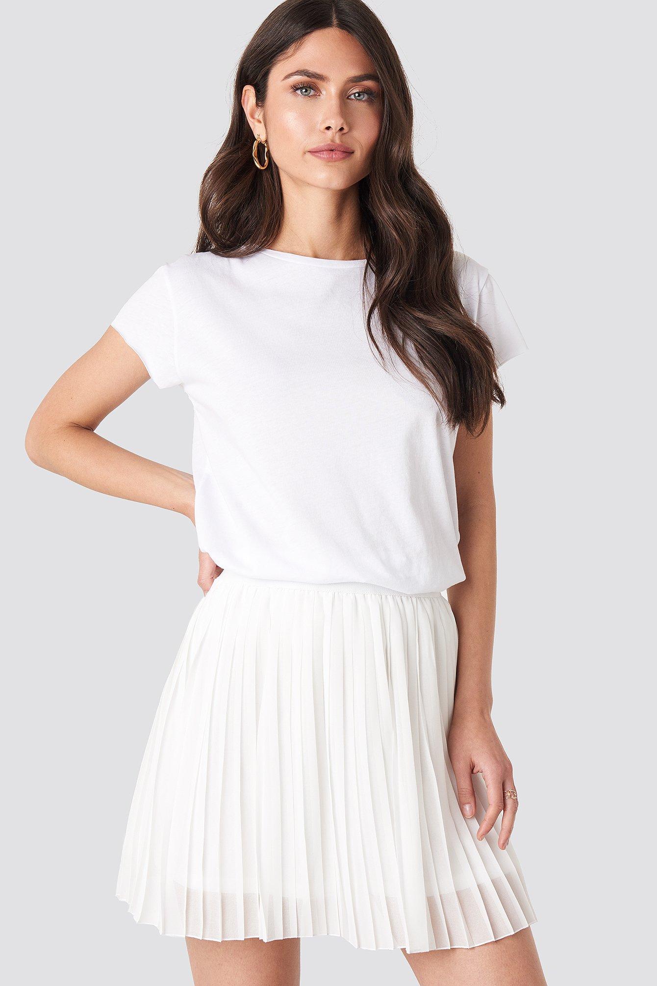 Na-Kd Mini Pleated Skirt - White In Off White