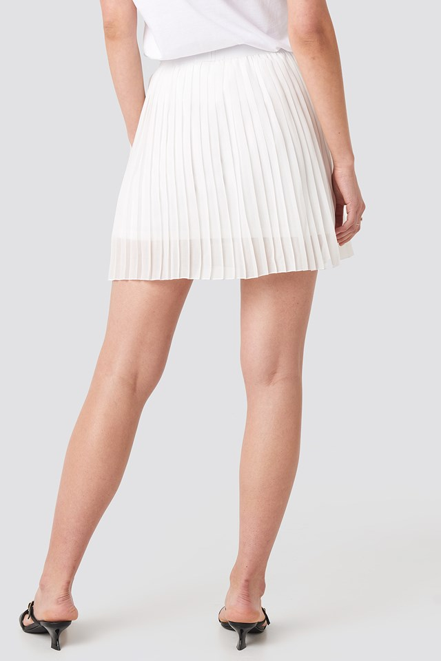Mini Pleated Skirt Off White