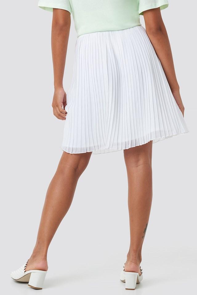 Mini Pleated Skirt White