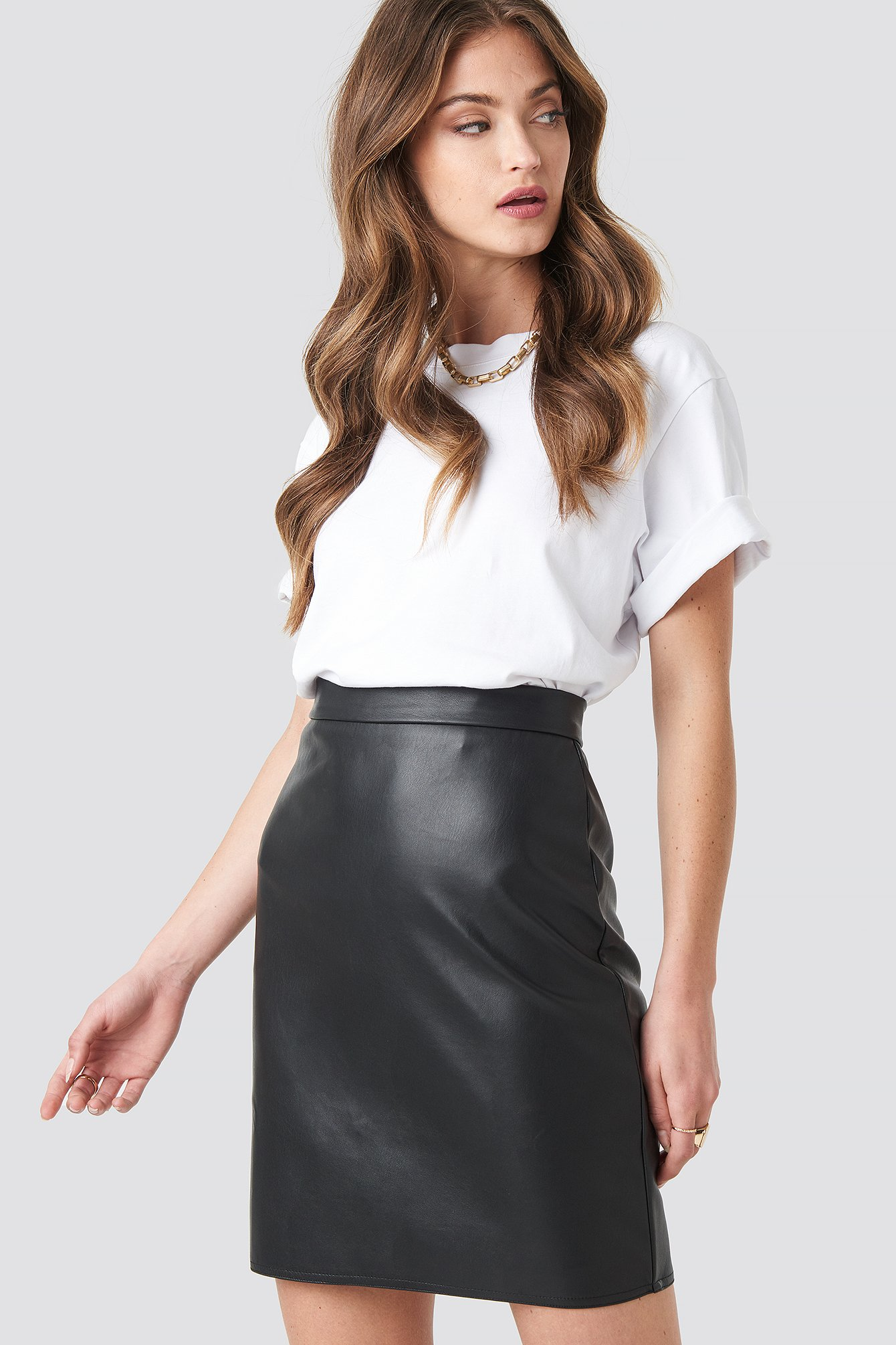na-kd party -  Mini PU Skirt - Black