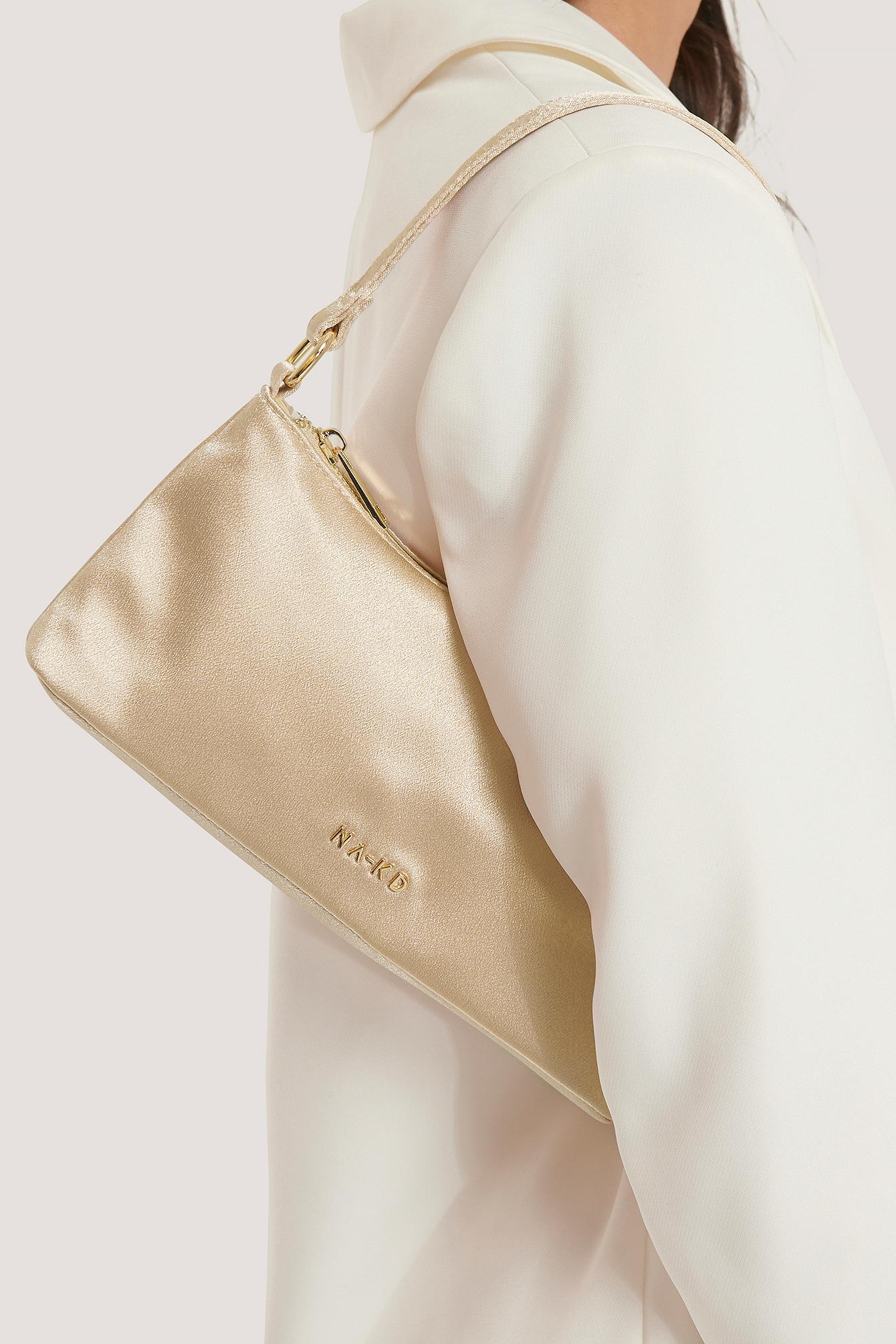 na-kd accessories -  Mini Satin Baguette Bag - Beige