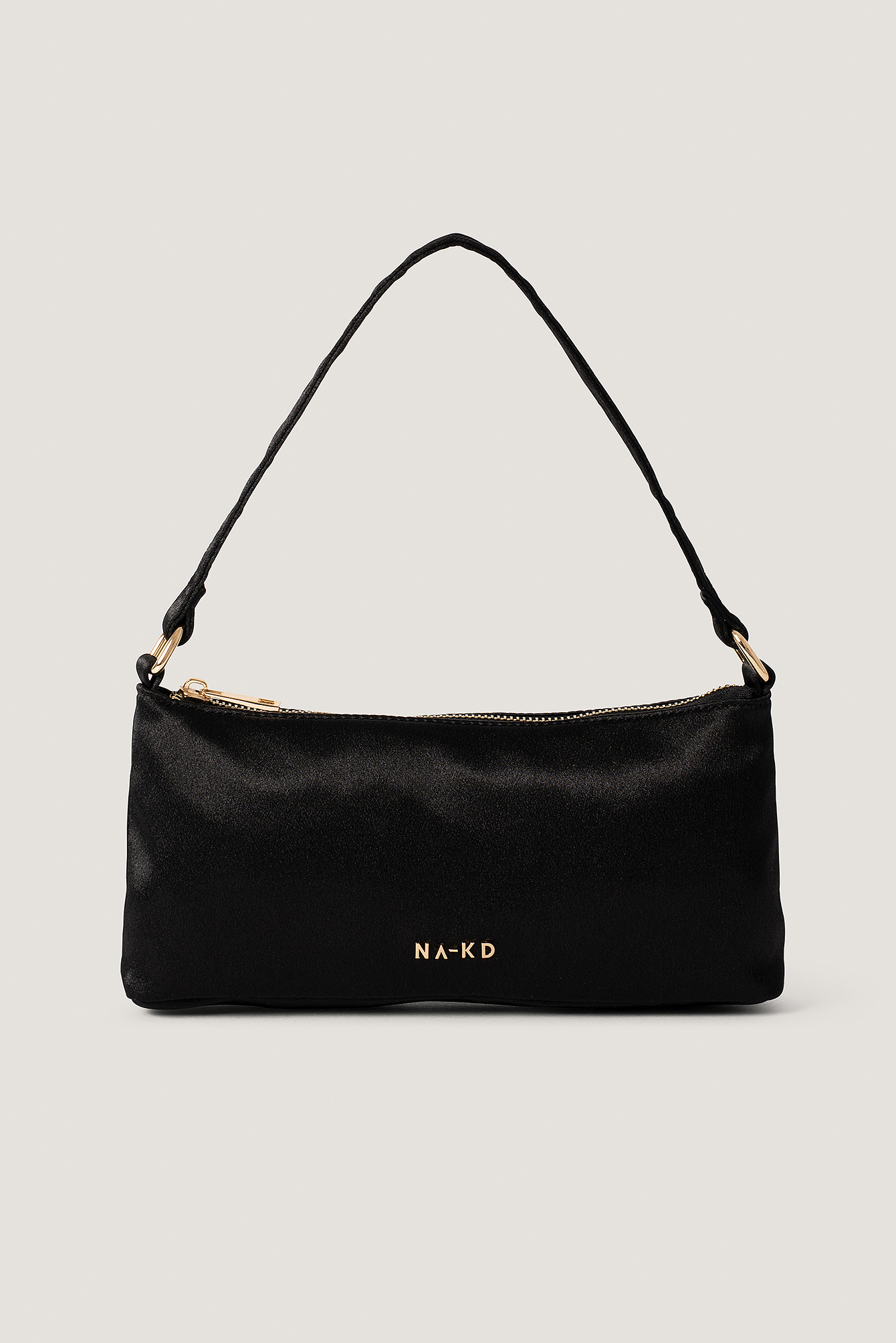 na-kd accessories -  Mini Satin Baguette Bag - Black