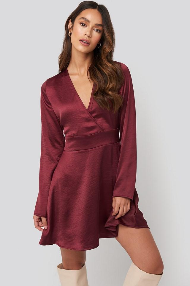Mini Satin Dress NA-KD Trend