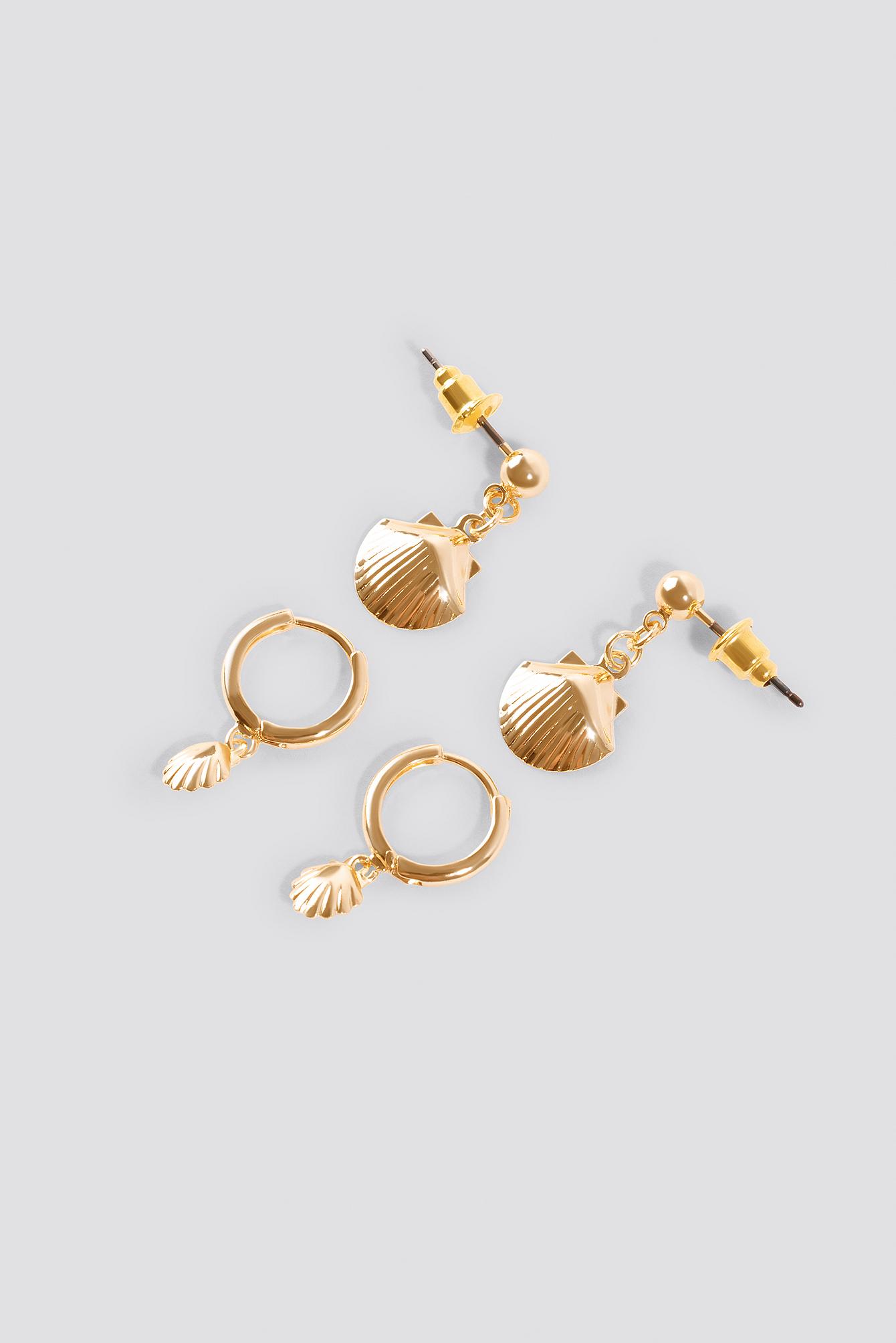 Mini Shell Pendant Earrings (2-pack) NA-KD.COM