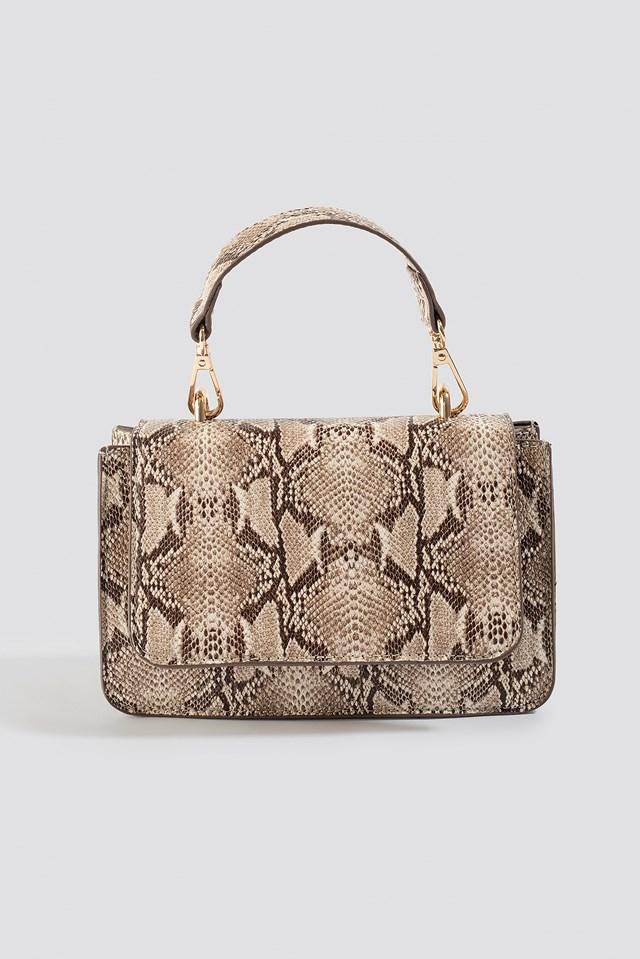 Mini Squared Crossbody Bag Snake