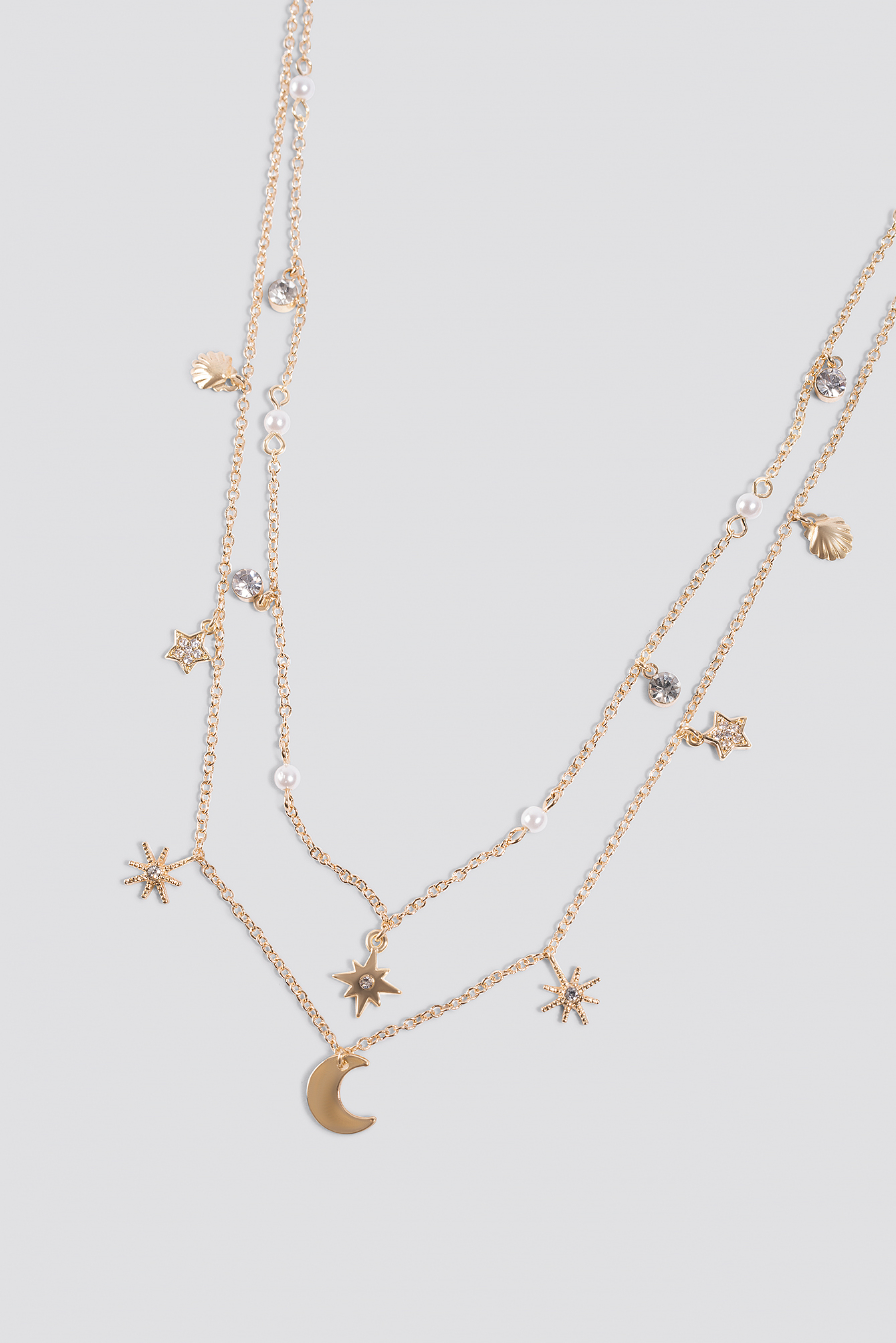 Mini Stars and Moon Necklace NA-KD.COM