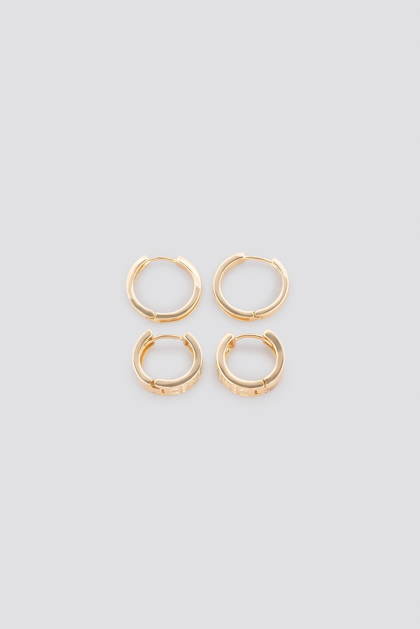 Mini Structured Hoop Set NA-KD.COM